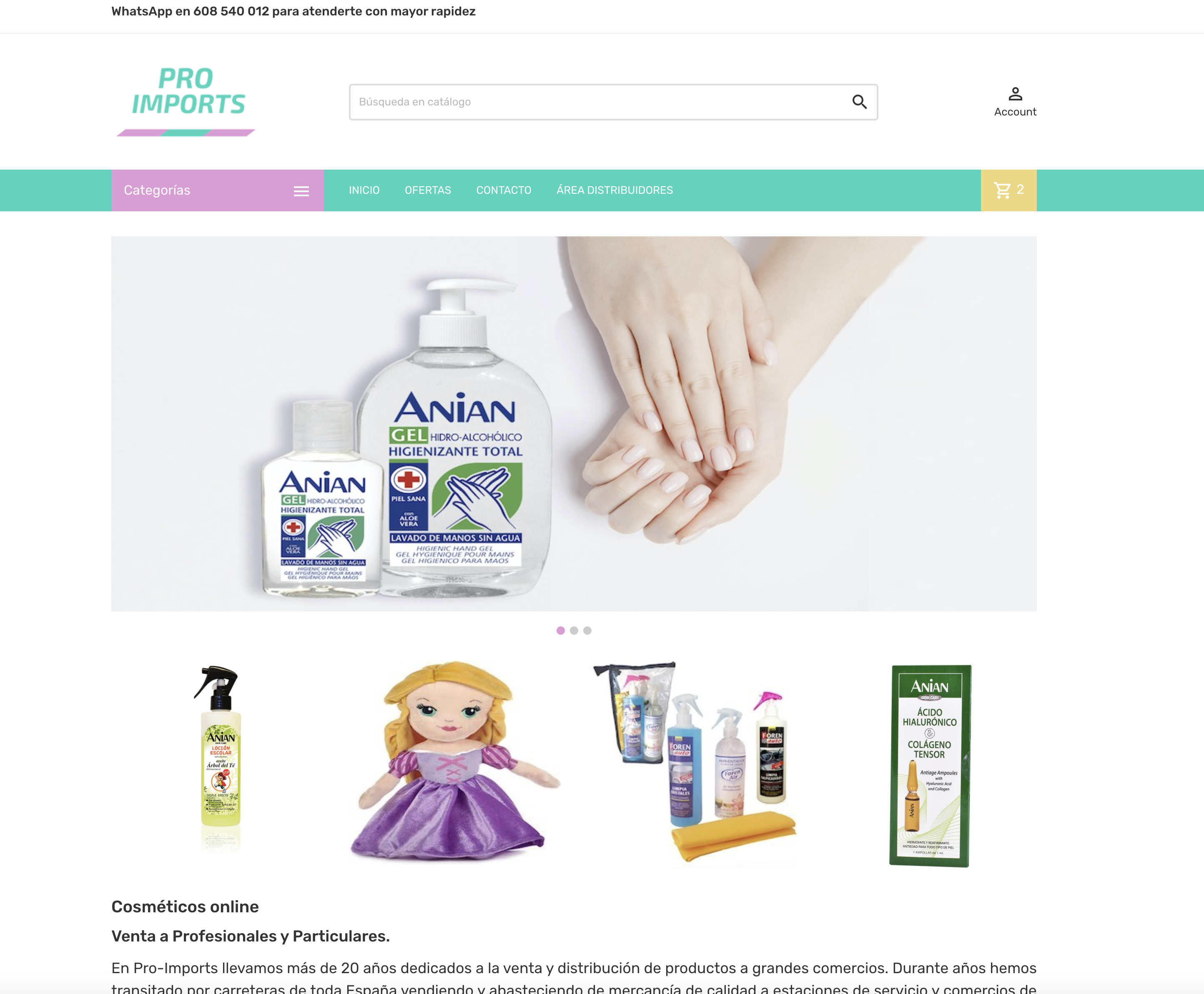 Pro-Imports - Cosmeticos Online